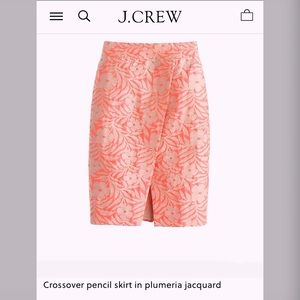 Jcrew Plumeria Silk Pencil Skirt sz 10